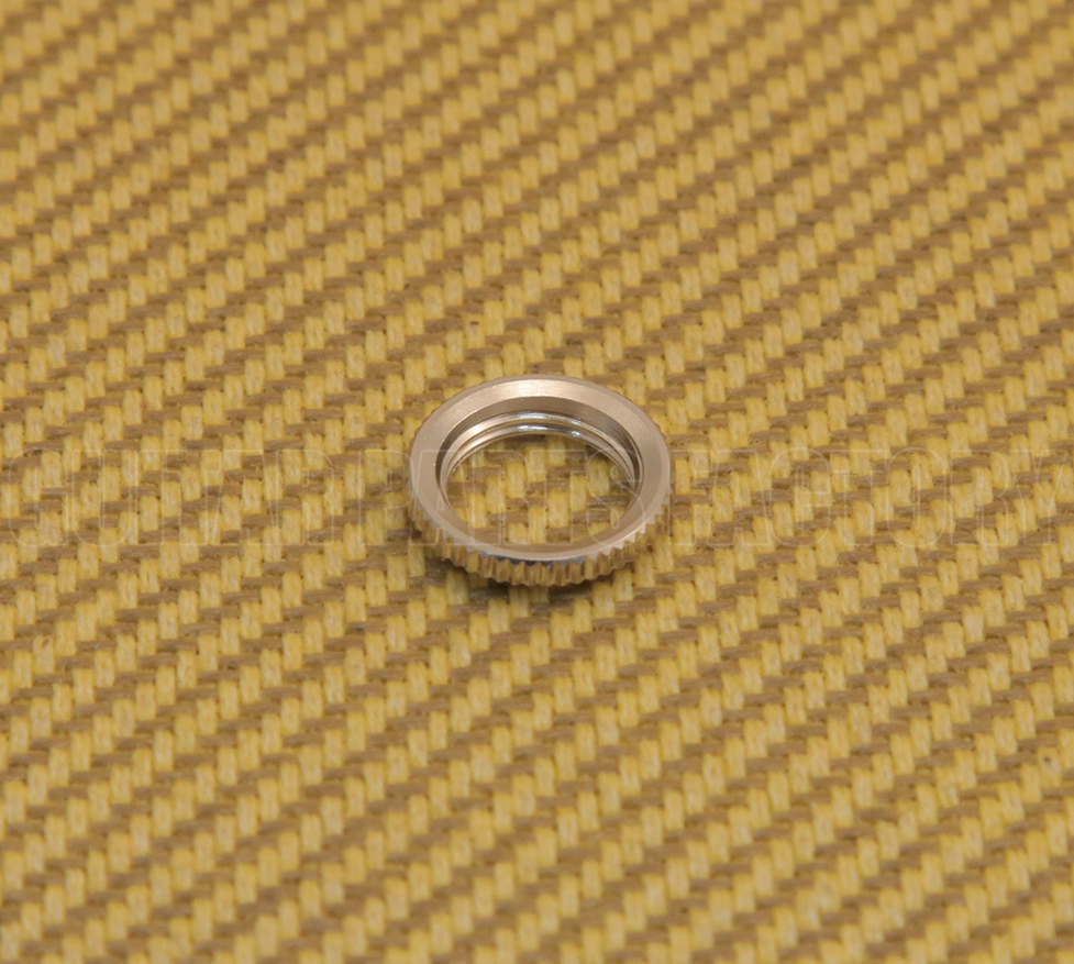Nickel Deep Thread Round Nut for Switchcraft USA Toggle Switches