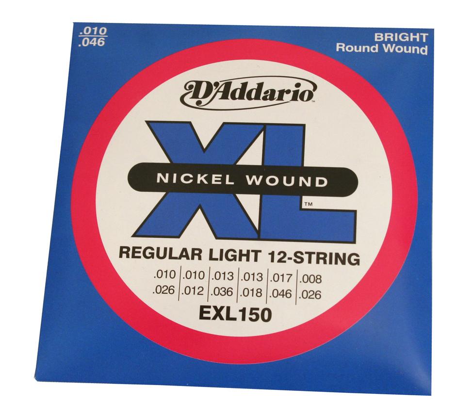 addario exl140 nickel light top heavy bottom electric guitar