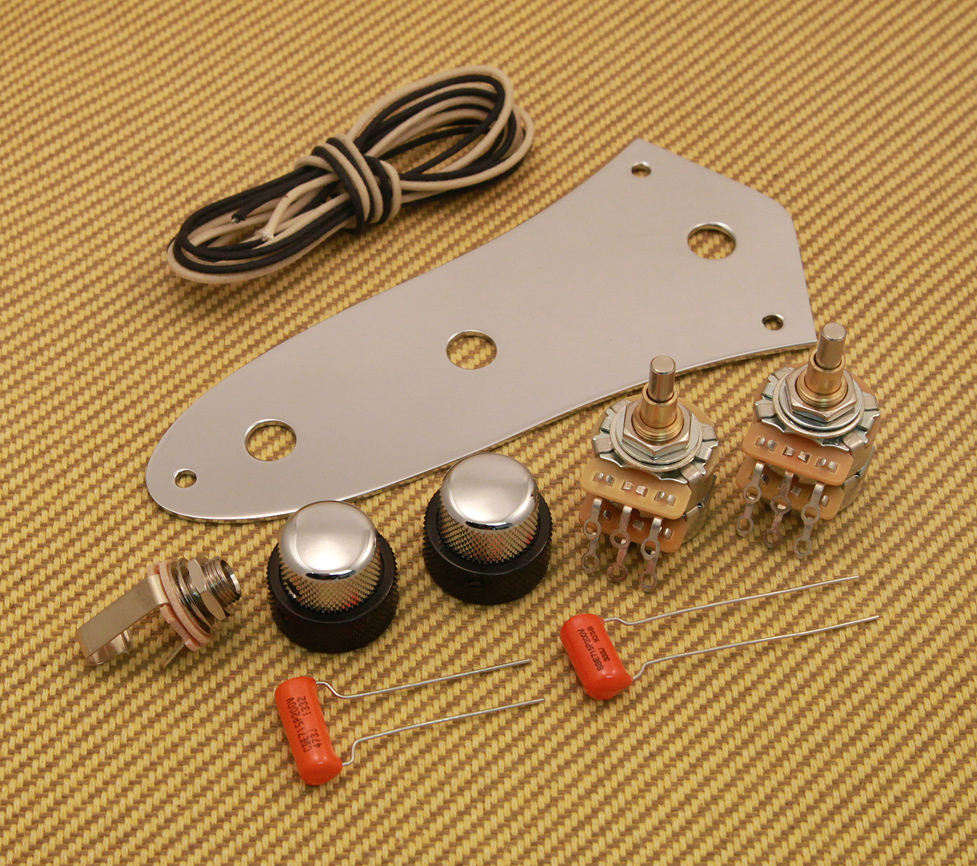 bass wiring kits rh guitarpartsresource com  jazz bass wiring kit with series parallel push pull switch
