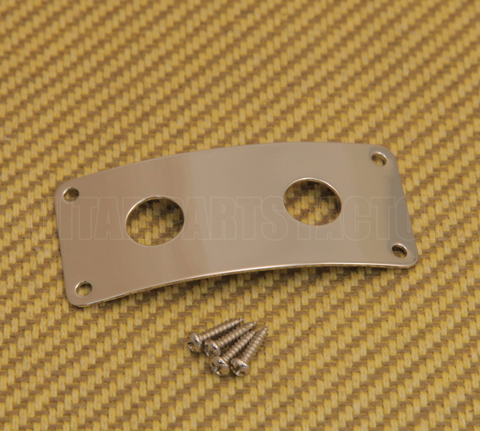 Round Metal Jack Plate For Flying V Guitar Chrome,Black or Gold With Screws